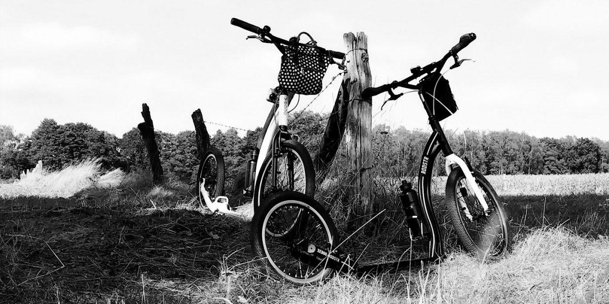 Tretroller-Wandern mit Komoot