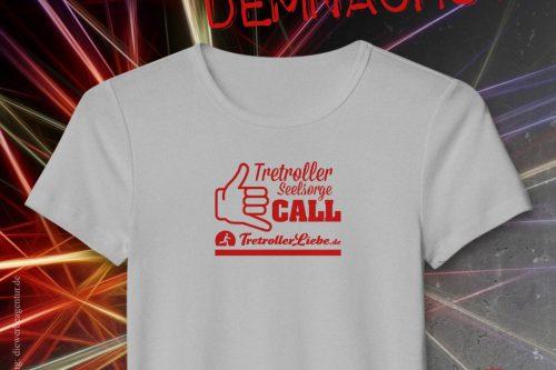 T-Shirt - Motiv Tretroller Seelsorge
