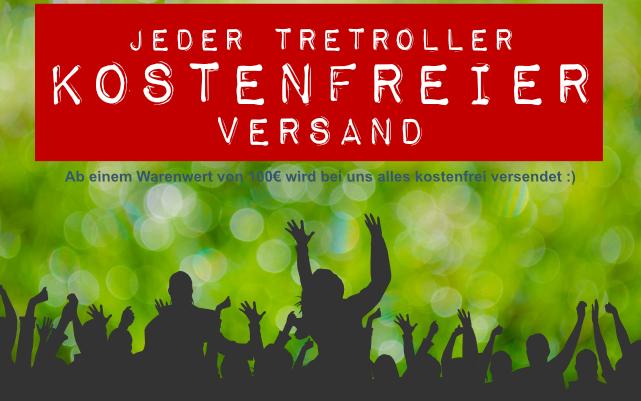 Kostenfreier Tretroller-Versand